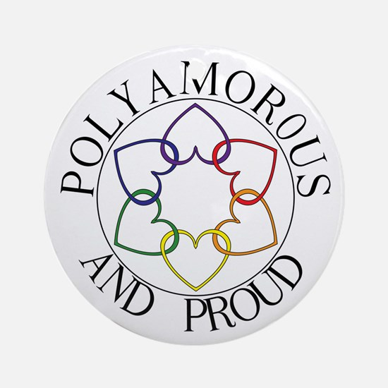 Poly and Proud circle logo Ornament (Round)