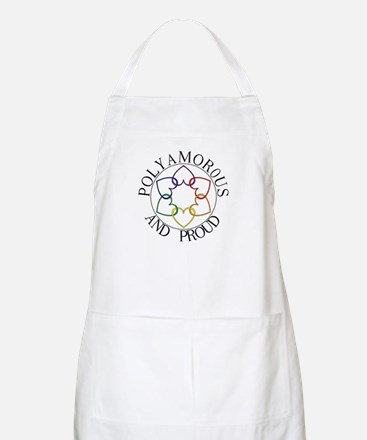 Poly and Proud circle logo BBQ Apron