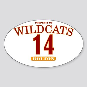 Wildcats 14 Oval Sticker