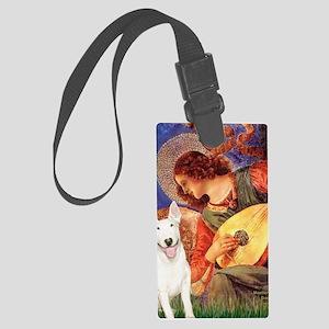 Angel with Mandolin - Bull Terri Large Luggage Tag