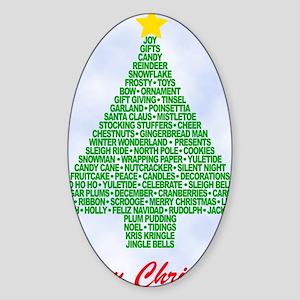tree4b_new Sticker (Oval)