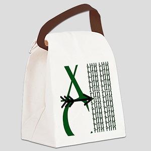 XC Run Green Black Canvas Lunch Bag