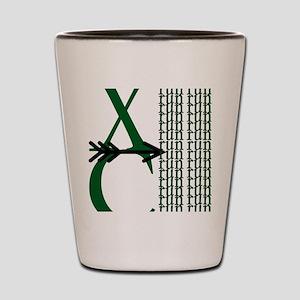 XC Run Green Black Shot Glass