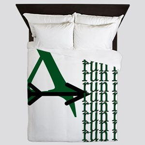 XC Run Green Black Queen Duvet