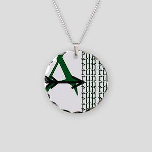 XC Run Green Black Necklace Circle Charm