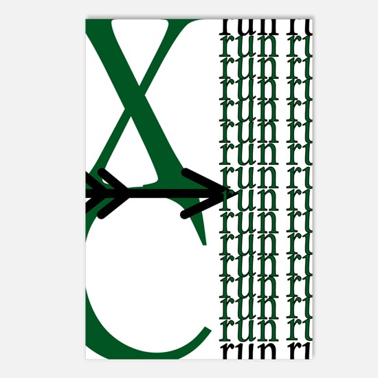 XC Run Green Black Postcards (Package of 8)