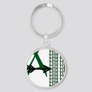 XC Run Green Black Round Keychain