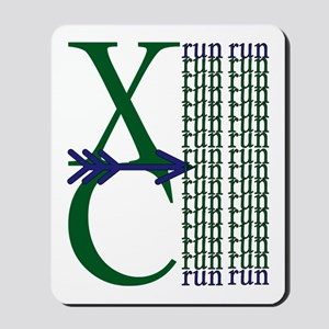 XC Run Green Blue Mousepad