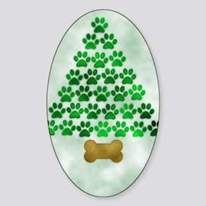 paws_christmas_572 Sticker (Oval)