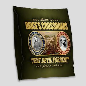 Brice's Crossroads Burlap Throw Pillow