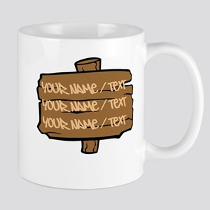Wooden Sign Mugs