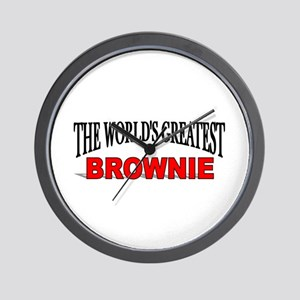 """""""The World's Greatest Brownie"""" Wall Clock"""
