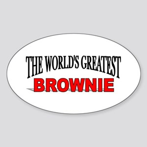 """The World's Greatest Brownie"" Oval Sticker"