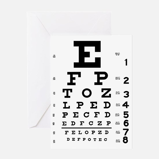 eyechart_full_page Greeting Card