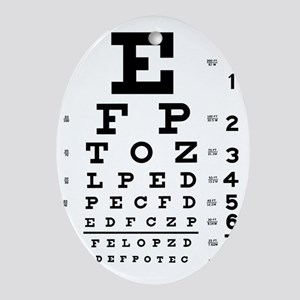 eyechart_full_page Oval Ornament