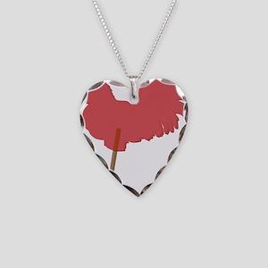 cock sucker Necklace Heart Charm