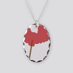 cock sucker Necklace Oval Charm