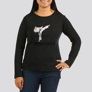 taekwondo a Women's Long Sleeve Dark T-Shirt