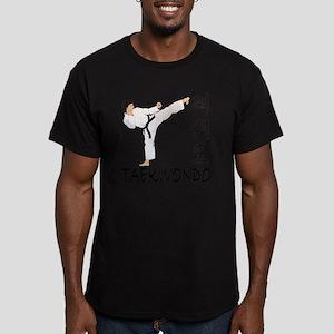 taekwondo a Men's Fitted T-Shirt (dark)