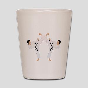 taekwondo b(blk) Shot Glass