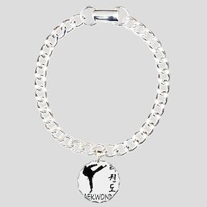 taekwondo Charm Bracelet, One Charm