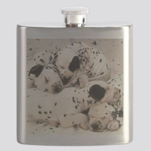 Dalmation sm fr pan print Flask