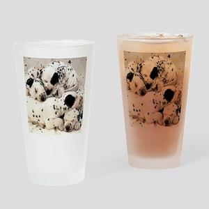 Dalmation sm fr pan print Drinking Glass