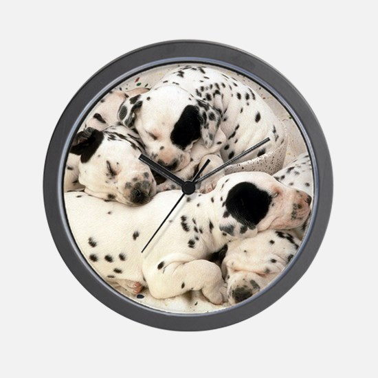 Dalmation sm fr pan print Wall Clock