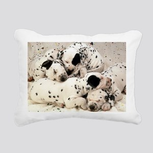 Dalmation sm fr pan prin Rectangular Canvas Pillow