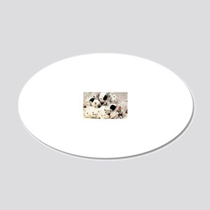 Dalmation sm fr pan print 20x12 Oval Wall Decal