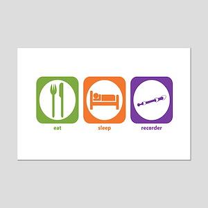 Eat Sleep Recorder Mini Poster Print
