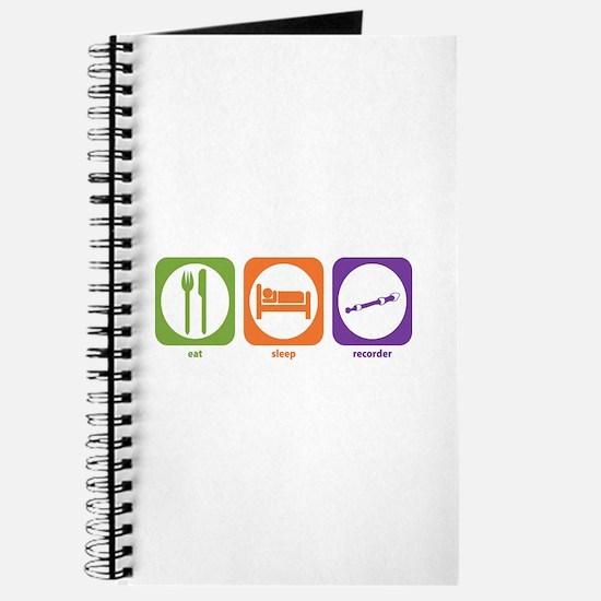 Eat Sleep Recorder Journal
