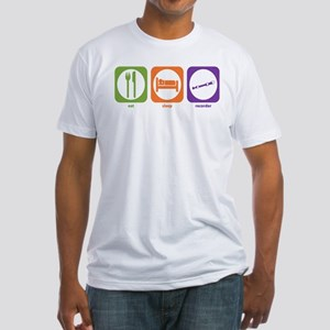 Eat Sleep Recorder Fitted T-Shirt