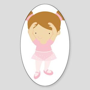 ZWD_BalletGirl02a Sticker (Oval)