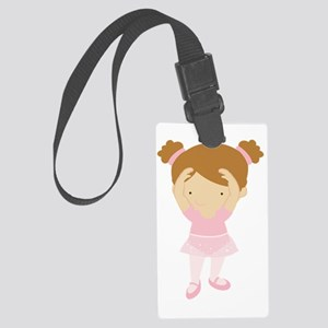 ZWD_BalletGirl02a Large Luggage Tag