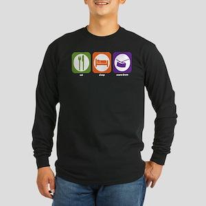 Eat Sleep Drum Long Sleeve Dark T-Shirt