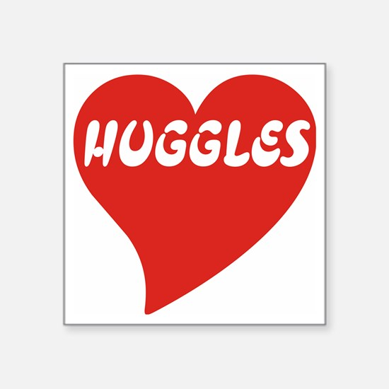 "Huggles large Square Sticker 3"" x 3"""