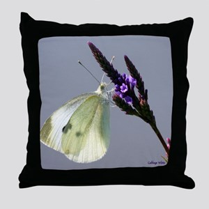 Cabbage White January Throw Pillow