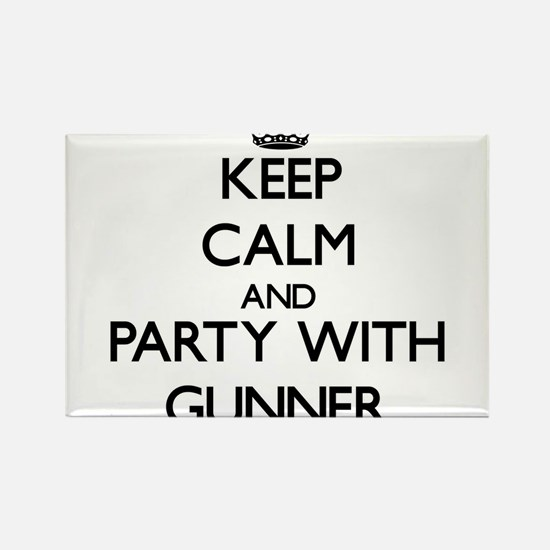 Keep Calm and Party with Gunner Magnets