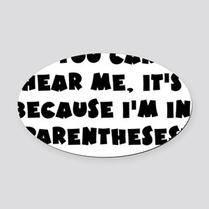 Wright_parentheses_blk Oval Car Magnet