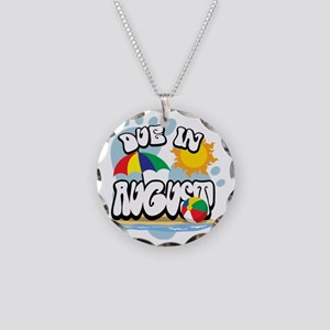 Due-in-August Necklace Circle Charm