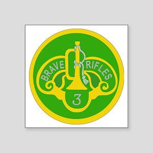"""SSI - 3rd Armored Cavalry R Square Sticker 3"""" x 3"""""""