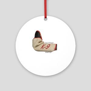 Sleeve certified K9 decoy (light)2 Round Ornament