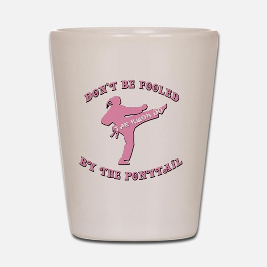 old tae kwon do(pink) Shot Glass