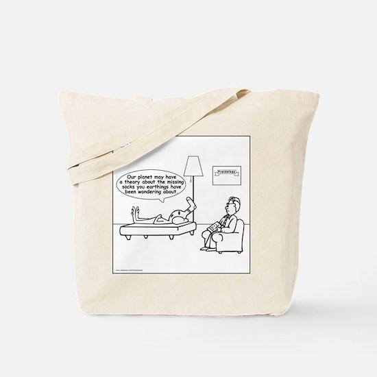 Alien: Missing Sock Theory Tote Bag