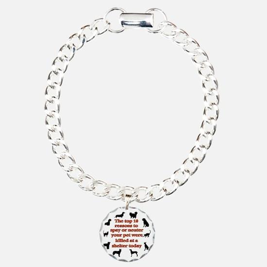 10 reasons to spay_white Bracelet