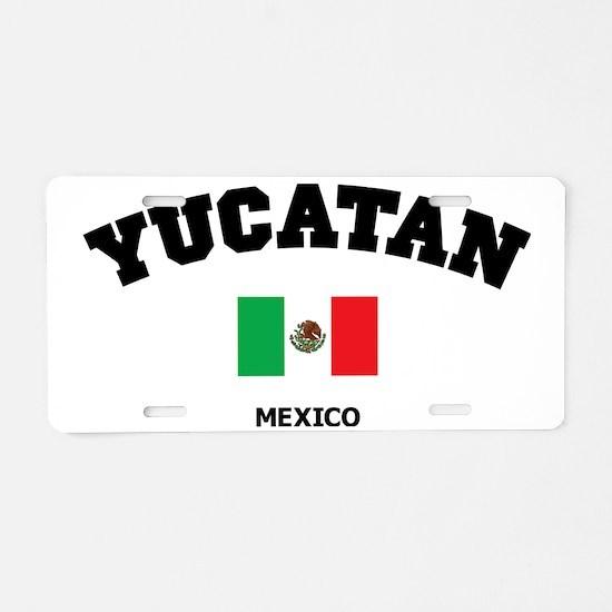 Yucatan Aluminum License Plate