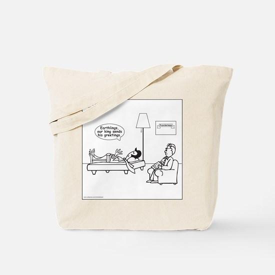 Alien: King Sends Greetings Tote Bag