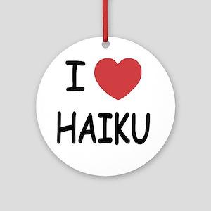HAIKU Round Ornament