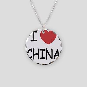 CHINA Necklace Circle Charm